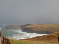 North Coast 500, Dunnet Head, storm, sea, cliffs, B&B, Sutherland